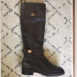 Coach Leather boots 5.5 (great condition)